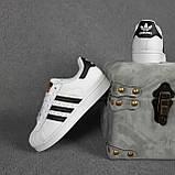 Женские кроссовки Adidas SuperStar Белые с чёрным, фото 2