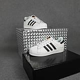 Женские кроссовки Adidas SuperStar Белые с чёрным, фото 5
