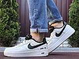 Чоловічі кросівки Nike Air Force Gore Tex білі з чорним, фото 3