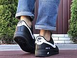 Мужские кроссовки Nike Air Force Gore Tex чёрные с белым, фото 2