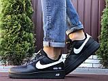 Мужские кроссовки Nike Air Force Gore Tex чёрные с белым, фото 3