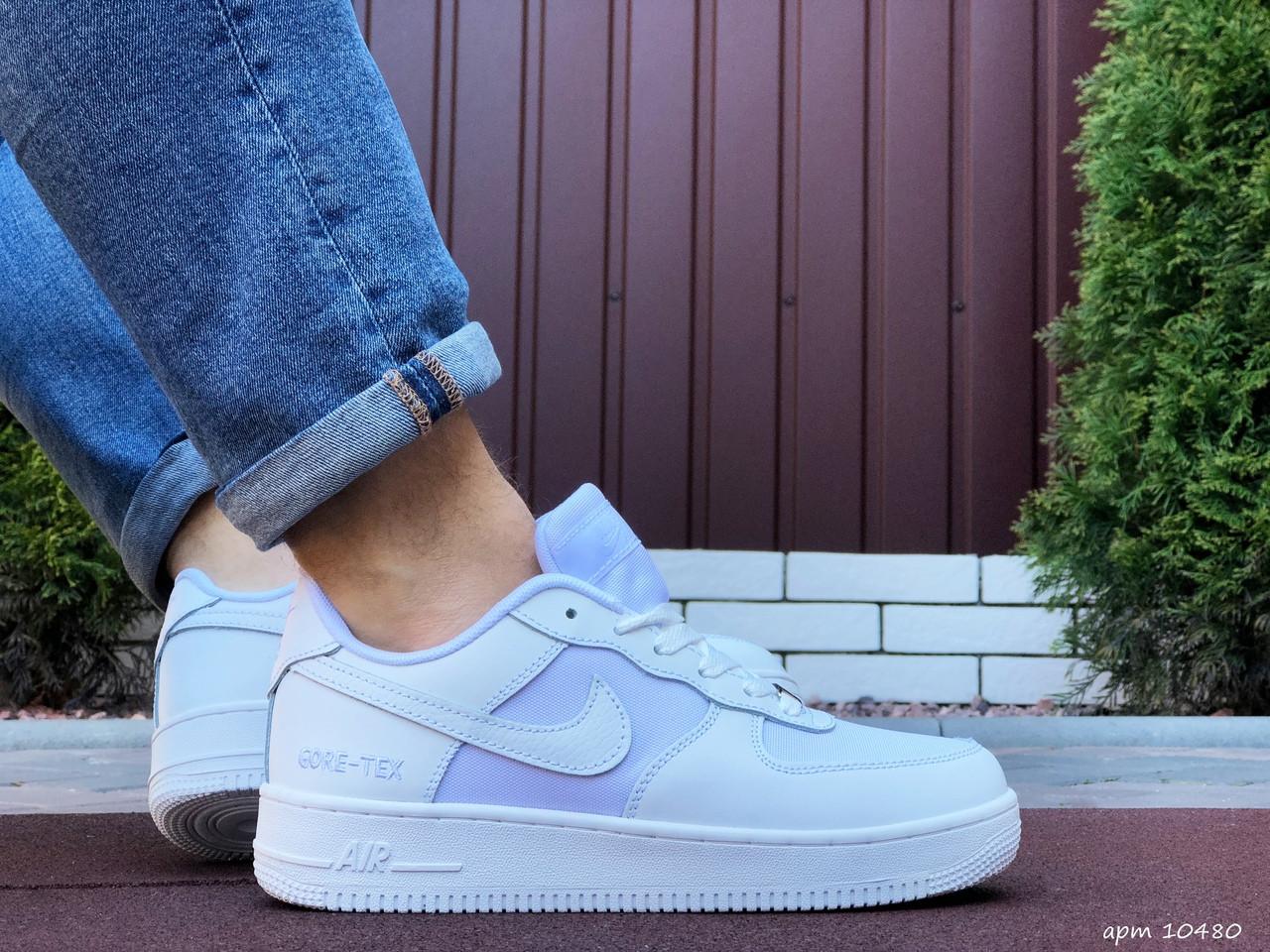 Чоловічі кросівки Nike Air Force Gore Tex білі