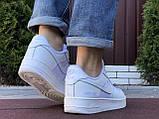 Чоловічі кросівки Nike Air Force Gore Tex білі, фото 2