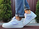 Чоловічі кросівки Nike Air Force Gore Tex білі, фото 3