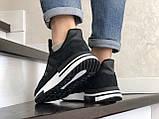 Чоловічі кросівки Adidas Zx 500 Rm чорні на білому, фото 2