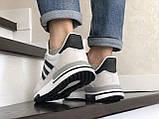Чоловічі кросівки Adidas Zx 500 Rm сірі, фото 2