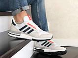 Чоловічі кросівки Adidas Zx 500 Rm сірі, фото 3