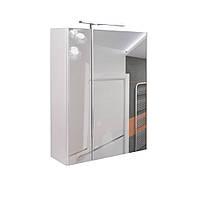 Зеркальный шкаф в ванную с подсветкой 600х700 Qtap Albatross WHI ZP600L