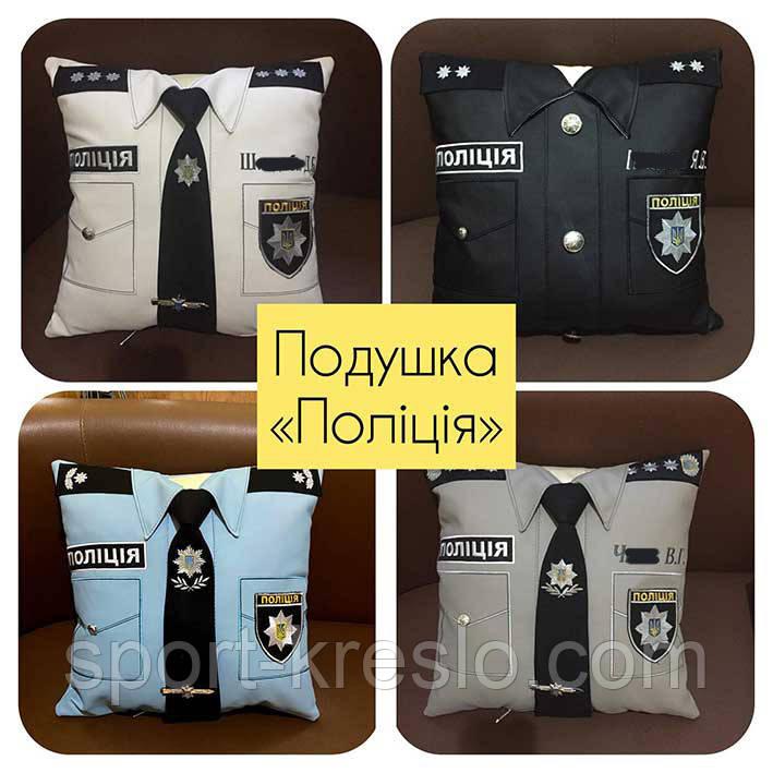 Сувенірна подушка подарункова Поліція, ДСНС, МВС і СБУ