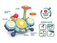 Игрушечная музыкальная Барабанная установка с микрофоном A-Toys RJ2827B игрушка для малышей