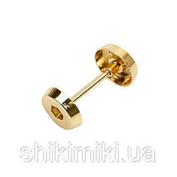 Штанга з декоративною гайкою SH901-3 (35 мм), колір золото