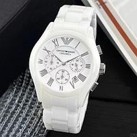 Часы мужские Emporio Armani AR-1400 Мужские часы Армани белые Часы брендовые мужские