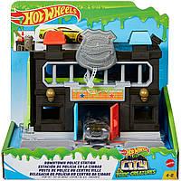 Детский набор Хот Вилс Полицейский участок Explore Hot Wheels City With Kid-Favorite Sets
