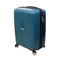 Сімейна пластикова валіза з поліпропілену 4 колеса 108 л Airtex синя, фото 1