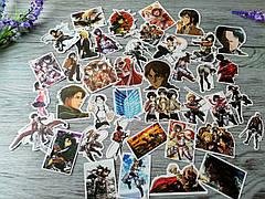 Набор виниловых стикеров / наклеек 40 шт Аниме Атака на Титанов №3 наклейки Attack on Titan