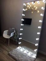 Гримерное дзеркало Безрамне в повний зріст без підставки з підсвічуванням (без ламп) 180*80 см
