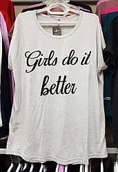 Жіночі футболки з малюнком великих розмірів 56-66