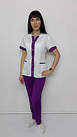 Жіночий медичний костюм Сану бавовна короткий рукав, фото 1