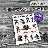Наклейки - Мортал Комбат (Mortal Kombat)