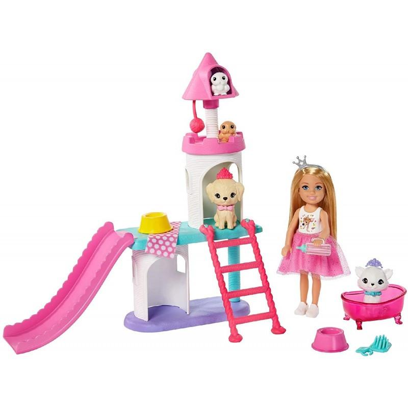 Лялька Барбі - Пригоди принцеси Замок Челсі для домашніх тварин (Barbie Princess Adventure Chelsea Pet Castle Playset)