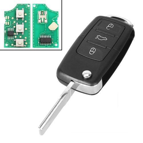 Ключ зажигания, чип ID48 1J0959753DA, 3 кнопки, для Volkswagen, Seat, Skoda