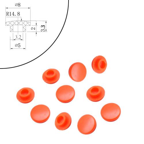 10x Колпачок круглый тактовой кнопки микрика 6мм, высота от 4.3мм, гриб