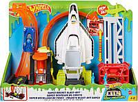 ОРИГИНАЛ Трек Хот Вилс Стартовая площадка шаттла Mattel Hot Wheels Super Space Shuttle Launch Pad Set