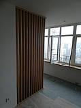 Дерев'яні рейкові панелі. рейкові перегородки. Декоративні рейки Дерев'яні панелі, фото 3