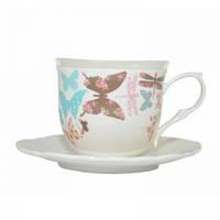 Чашка с блюдцем Butterfly 200 мл Krauff