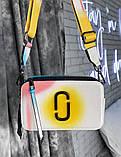 Женская сумка-клатч через плечо Marc Jacobs Snapshot Camera Bag Airbrushed yellow, фото 4