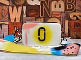 Женская сумка-клатч через плечо Marc Jacobs Snapshot Camera Bag Airbrushed yellow, фото 6