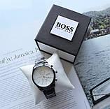 Мужские наручные часы Hugo Boss black&white, фото 2