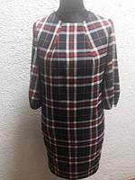 Платье женское в клетку бочонок