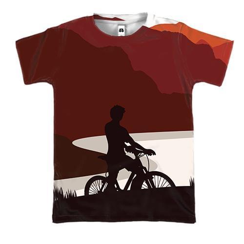 3D футболка з велосипедистами мандрівниками
