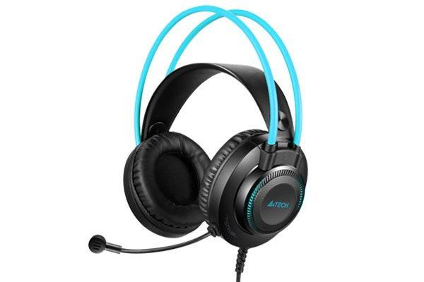 Гарнітура A4tech Fstyler USB Stereo Headphone, Grey+ Blue