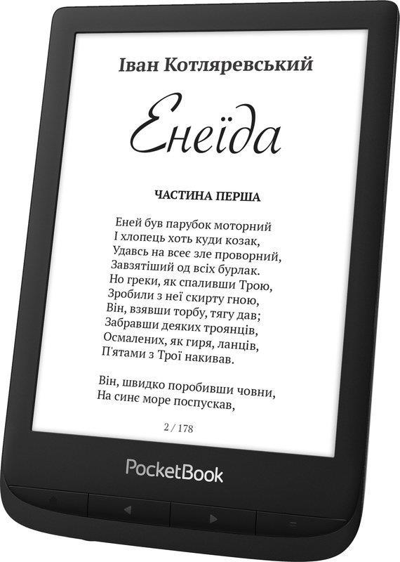 "Електронна книга PocketBook 628 Black (PB628-P-CIS), 6"" (1024х758) E Ink Carta"
