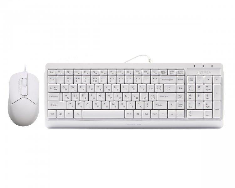 Комплект (клавіатура + миша) Комплект A4-Tech F1512 (White)