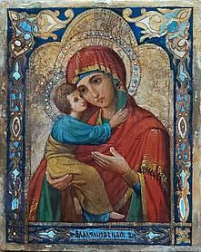 Владимирская икона Божьей матери 19 век