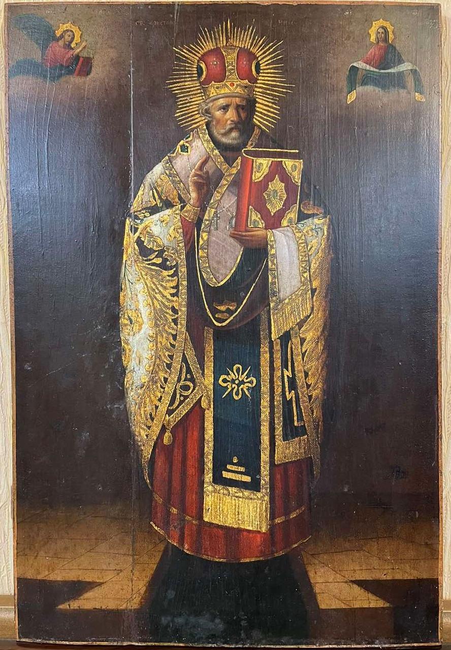 Икона Николая Чудотворца 19 век Россия