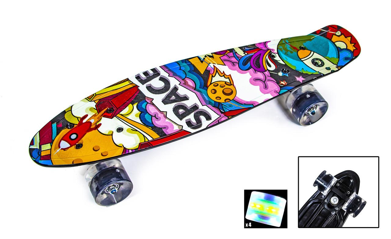 "Penny Board ""Space"" Світяться колеса"