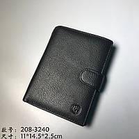 Вертикальный кошелёк из натуральной кожи HT 208-3204 чёрный