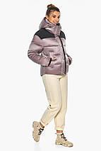 Куртка пудрова елегантна жіноча модель 57520, фото 2
