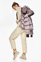 Куртка пудрова елегантна жіноча модель 57520, фото 3