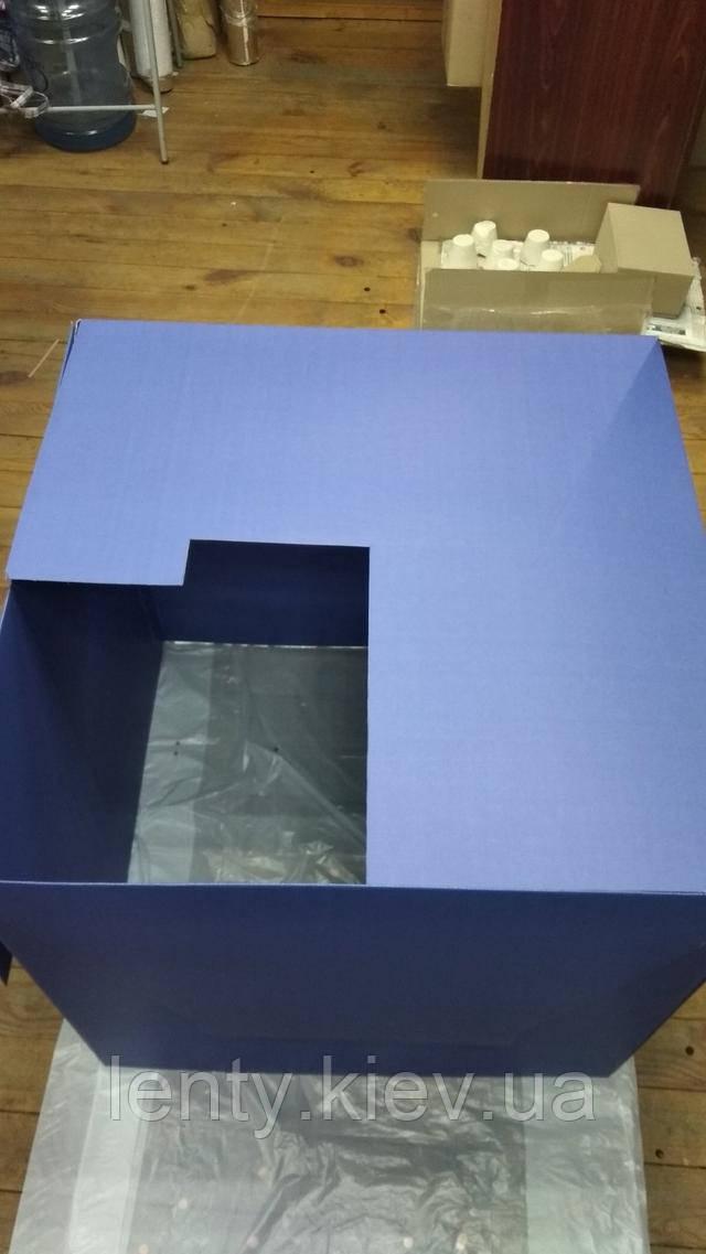 другу сторону закриваємо (коробка-сюрприз - складання)