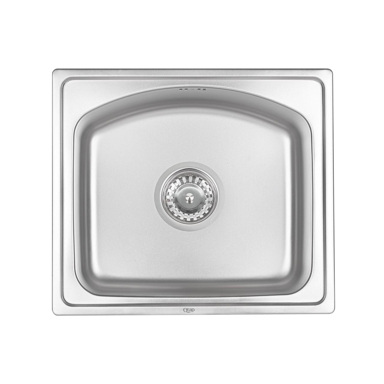 Кухонна мийка Qtap 4842 0,8 мм dekor (QT4842MICDEC08)