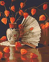 Картина по номерах натюрморт 40х50 Натюрморт з фізалісом