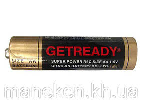 Елемент живлення Батарейка ГетРеди (АА R6) сольові (Б-4) (4 шт)