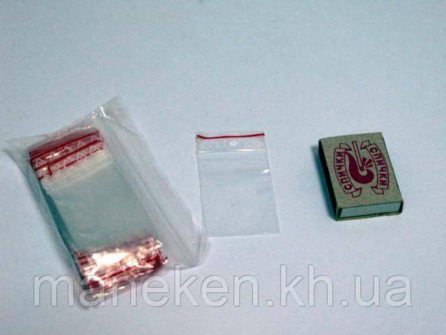 Пакети струна з замком Zip-Lock (з отвором) 4см x 6см(100шт) (1 пач.)
