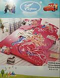 Комплект постільної білизни дитячий Байка, Фланель Кішечка в окулярах Рожевий колір полуторний розмір, фото 6