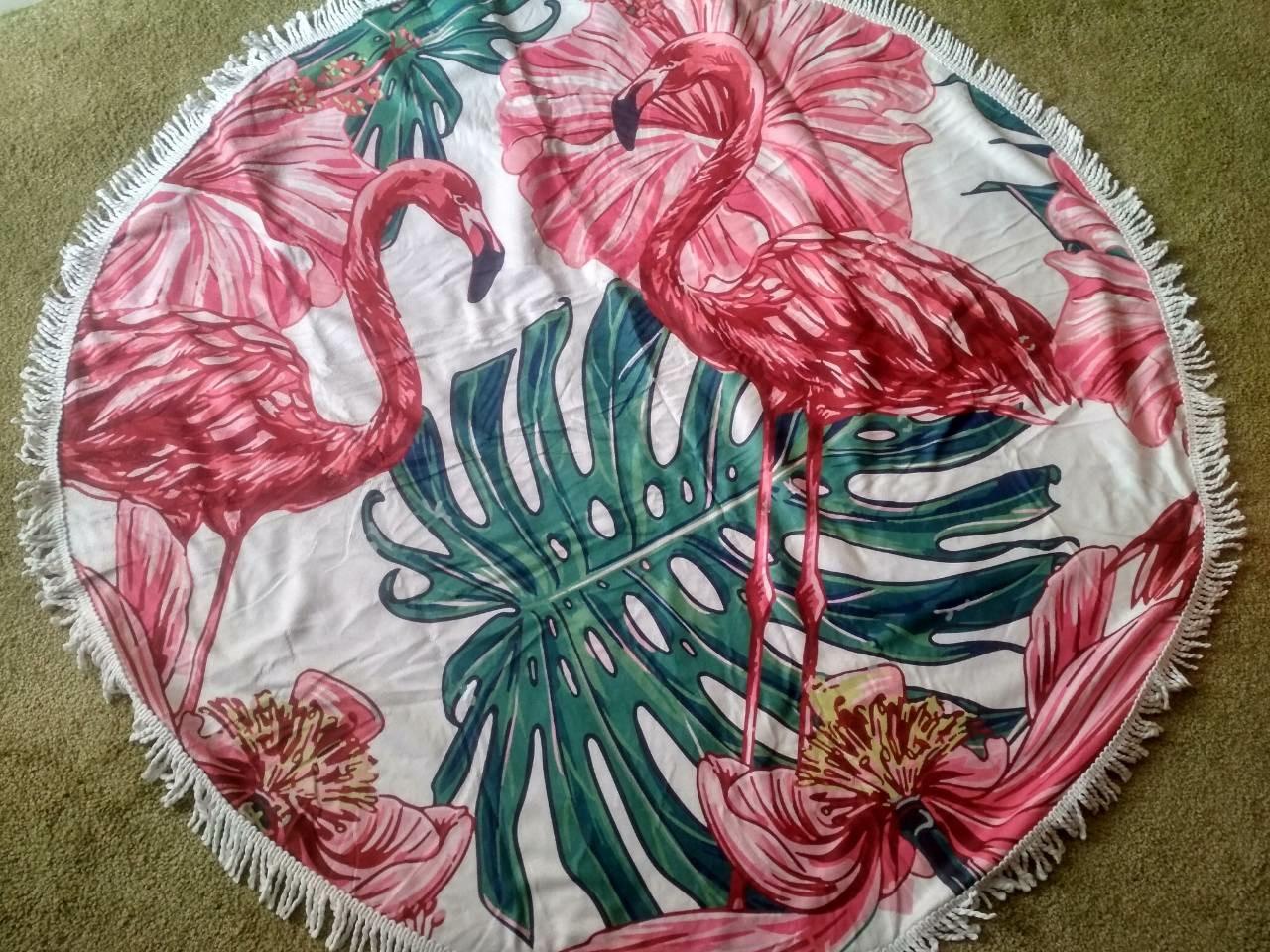 Пляжний круглий килимок-покривало